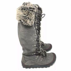 Earth Boots Peak Waterproof Iron Suede Winter Lace